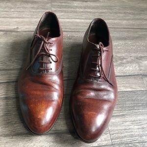 PRADA Leather Lace Up Oxford Dress Shoes